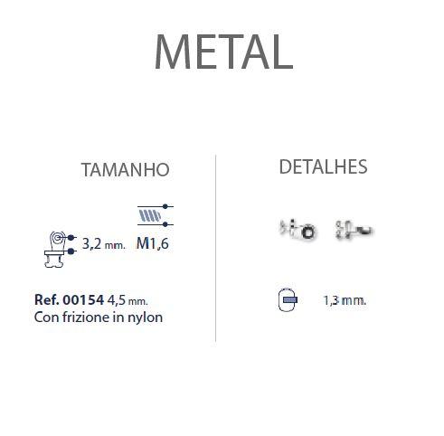 0200154 - Charneira 02 Embutir Ancora Oval Anilha Nylon Mod 154 FLAG E  -Contém 10 Peças