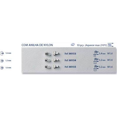 0200155 - Charneira 02 Embutir Ancora Oval Anilha Nylon Mod 155 FLAG 9  -Contém 10 Peças
