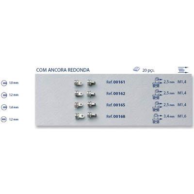 0200168 - Charneira 02 Embutir Base Normal Mod 168 FLAG 9  -Contém 20 Peças