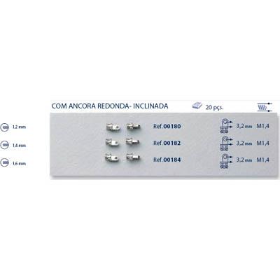 0200180 - Charneira 02 Embutir Base Pequena Mod 180 FLAG 9  -Contém 20 Peças