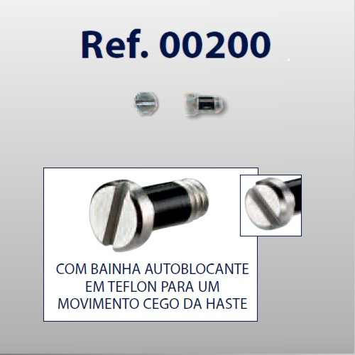 0200200 - Parafuso RB AutoBlock [RC1,4/CB2,0/CP3,5] Níq Mod 200  -Contém 50 Peças