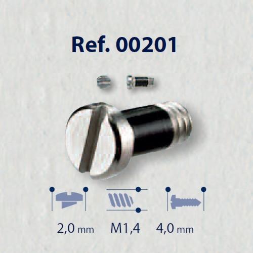 0200201 - Parafuso 02 AutoBlock Aço [RC1,4/CB2,0/CP4,0] Níql Mod 201 FLAG E  -Contém 50 Peças
