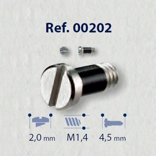 0200202 - Parafuso 02 AutoBlock Aço [RC1,4/CB2,0/CP4,5] Níql Mod 202 FLAG E  -Contém 50 Peças