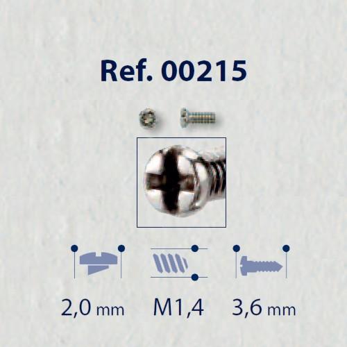 0200215 - Parafuso RB Metal [RC1,4/CB2,0/CP3,6] Níquel Mod 215 FLAG E - Contém 100 Peças SOB ENCOMENDA