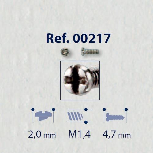 0200217 - Parafuso RB Metal [RC1,4/CB2,0/CP4,7] Níquel Mod 217 FLAG E - Contém 100 Peças SOB ENCOMENDA