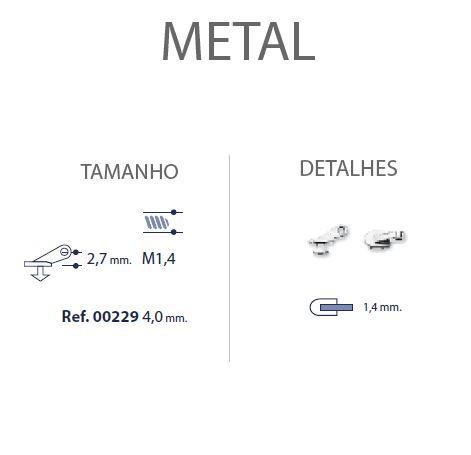 0200229 - Charneira 02 Embutir Furo Especial Mod 229  -Contém 20 Peças