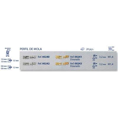 0200241 - Charneira 02 Embutir Flex Ouro Mod 241 FLAG 9  -Contém 20 Peças
