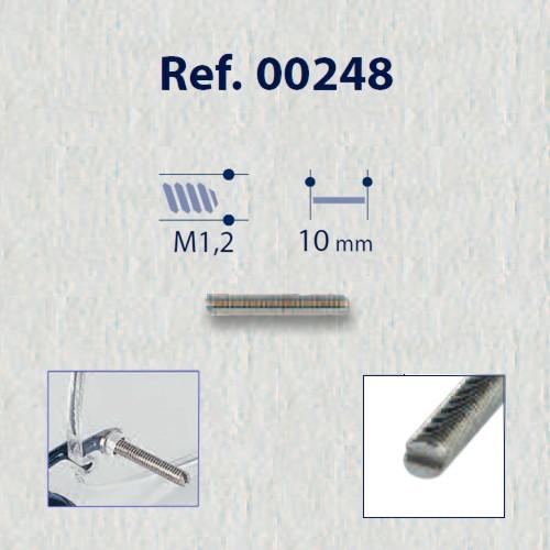 0200248 - Parafuso 02 Alongador sem Cabeça [RC1,2/CP10,0] Mod 248 FLAG E  -Contém 50 Peças