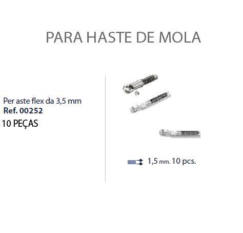 0200252 - Charneira 02 Peça-Flex Mecanismo Mola Mod 252 FLAG E  -Contém 10 Peças