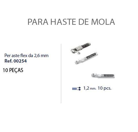 0200254 - Charneira 02 Peça-Flex Mecanismo Mola Mod 254  -Contém 10 Peças