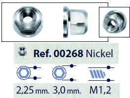 0200268 - Porca Hexagonal Anilhada AutoBlock M1,2x2,25x3,0 Mod 268 FLAG E - Contém 50 Peças SOB ENCOMENDA
