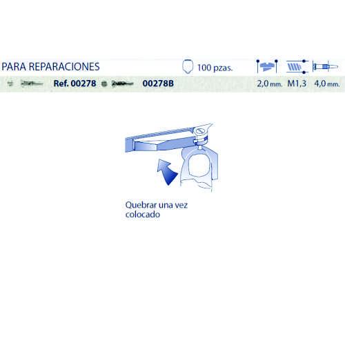 0200278 - Parafuso Flex [RC1,3/CB2,0/CP4,0] Niquel Mod 278 FLAG E - Contém 100 Peças SOB ENCOMENDA