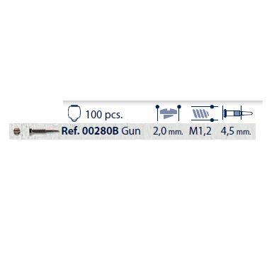 0200280B - Parafuso Flex [RC1,2/CB2,0/CP4,5] Grafite Mod 280B FLAG E - Contém 100 Peças SOB ENCOMENDA