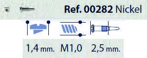 0200282 - Parafuso Flex [RC1,0/CB1,4/CP2,5] Niquel Mod 282 - Contém 100 Peças