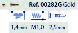 0200282G - Parafuso Flex [RC1,0/CB1,4/CP2,5] Ouro Mod 282G FLAG 9 - Contém 100 Peças