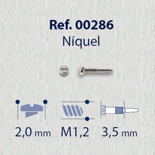 0200286 - Parafuso Flex [RC1,2/CB2,0/CP3,5] Niquel Mod 286 - Contém 100 Peças