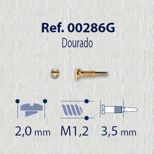0200286G - Parafuso Flex [RC1,2/CB2,0/CP3,5] Ouro Mod 286G FLAG E - Contém 100 Peças SOB ENCOMENDA