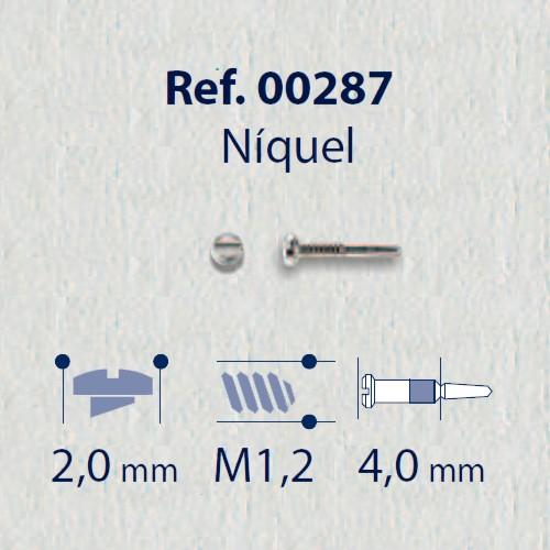 0200287 - Parafuso Flex [RC1,2/CB2,0/CP4,0] Niquel Mod 287 FLAG E - Contém 100 Peças SOB ENCOMENDA