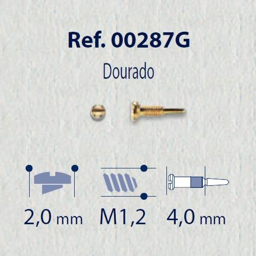 0200287G-Parafuso Flex (RC1,2/CB2,0/CP4,0) Ouro Mod 287G FLAG E - Contém 100 Peças  - SOB ENCOMENDA