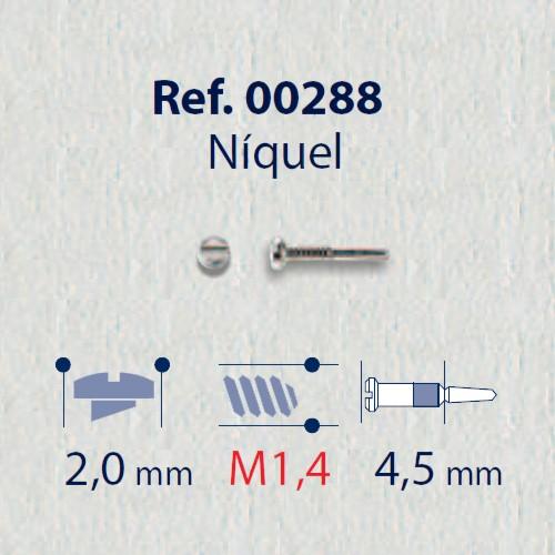 0200288 - Parafuso Flex [RC1,4/CB2,0/CP4,5] Niquel Mod 288 - Contém 100 Peças