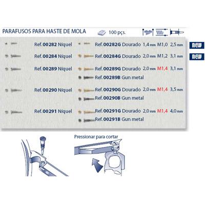 0200291 - Parafuso Flex [RC1,4/CB2,0/CP4,0] Niquel Mod 291 - Contém 100 Peças