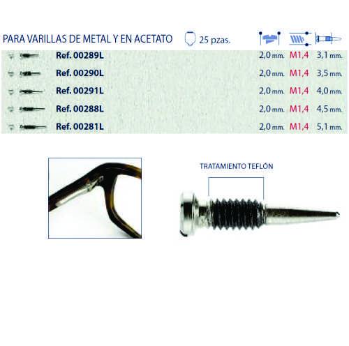 0200291L - Parafuso Flex AutoBlock [RC1,4/CB2,0/CP4,0] Niquel Mod 291L FLAG E - Contém 25 Peças SOB ENCOMENDA