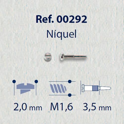 0200292 - Parafuso Flex [RC1,6/CB2,0/CP3,5] Niquel Mod 292 - Contém 100 Peças