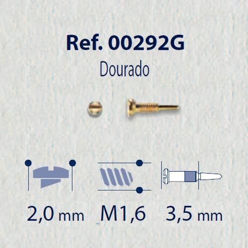 0200292G - Parafuso Flex [RC1,6/CB2,0/CP3,5] Ouro Mod 292G FLAG 9 - Contém 100 Peças