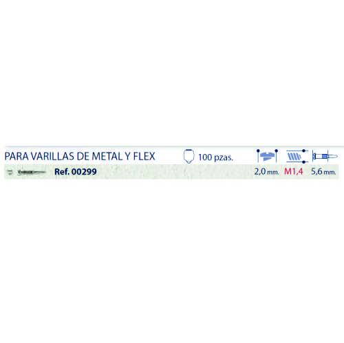 0200299-Parafuso Flex [RC1,4/CB2,0/CP5,6] Niquel Mod 299 FLAG E - Contém 100 Peças  - SOB ENCOMENDA