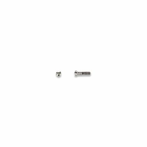 0200343 - Parafuso 02 Plaqueta Aço [RC1,0/CB1,4/CP4,5] Níquel Mod 343  -Contém 100 Peças