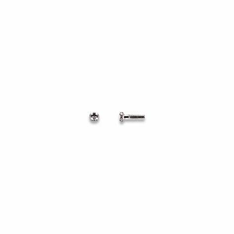 0200345 - Parafuso 02 Plaqueta Aço [RC1,0/CB1,7/CP4,4] Níquel Mod 345 FLAG E  -Contém 100 Peças