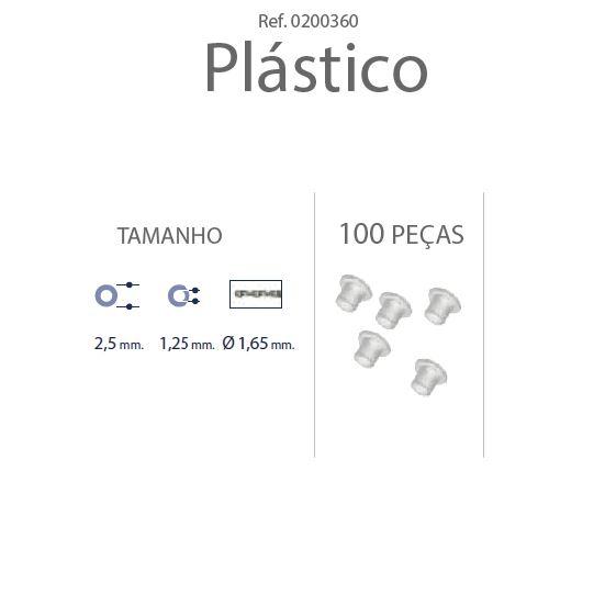 0200360 - Anilha Plástica Cilindrica 2,5x1,25mm Mod 360 FLAG E - Contém 100 Peças SOB ENCOMENDA