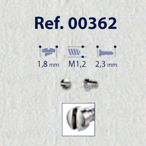 0200362 - Parafuso Aço [RC1,2/CB1,8/CP2,3] Níquel Mod 362 FLAG E - Contém 100 Peças SOB ENCOMENDA