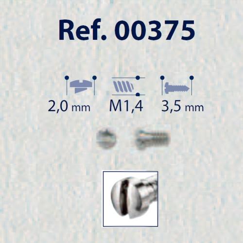0200375 - Parafuso RB Vintage [RC1,4/CB2,0/CP3,5] Níquel Mod 375  -Contém 100 Peças