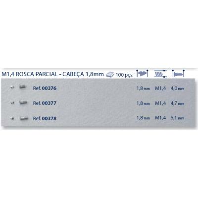 0200376 - Parafuso Aço [RC1,3/CB1,8/CP4,5] Níquel Mod 376 FLAG E - Contém 100 Peças SOB ENCOMENDA