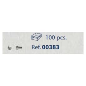 0200383 - Parafuso 02 Aço [RC1,2/CB1,8/CP3,1] Níquel Mod 383  -Contém 100 Peças