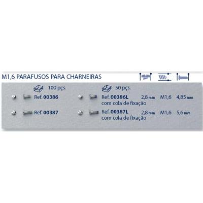 0200386L - Parafuso Autoblock Aço [RC1,6/CB2,8/CP4,8] Níquel Mod 386L FLAG 9 - Contém 50 Peças