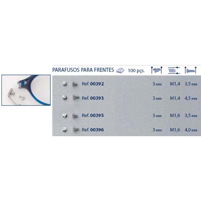 0200395 - Parafuso 02 Aço [RC1,6/CB3,0/CP3,5] Níquel Mod 395  -Contém 100 Peças