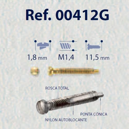 0200412G-Parafuso Autoblock/Roscante (RC1,4/CB1,8/CP11,5) Ouro Mod 412G FLAG E - Contém 50 Peças  - SOB ENCOMENDA