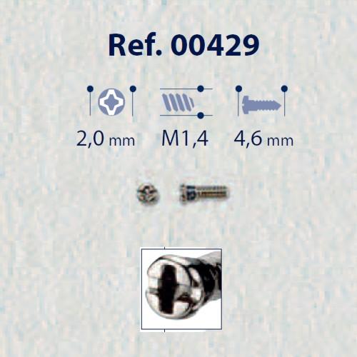0200429 - Parafuso Autoblock Aço [RC1,4/CB2,0/CP4,6] Níquel Mod 429 FLAG E - Contém 25 Peças SOB ENCOMENDA