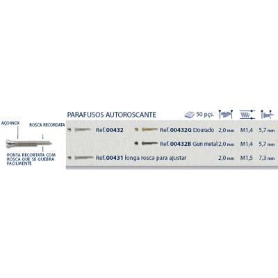 0200432 - Parafuso AutoBlock Aço [RC1,4/CB2,0/CP5,7] Níquel Mod 432 FLAG 9 - Contém 50 Peças