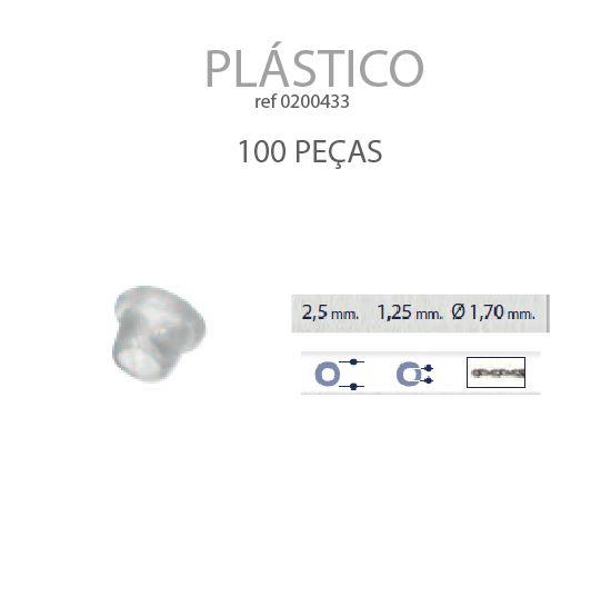 0200433 - Anilha Plástica Cônica 2,5x1,25mm Mod 433 FLAG 9 - Contém 100 Peças