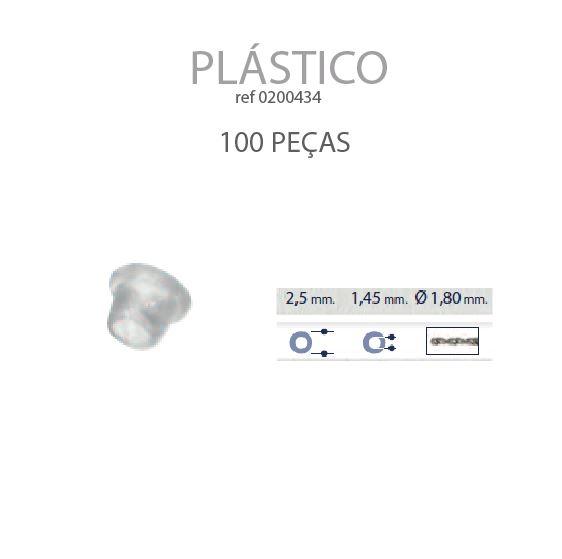 0200434-Anilha Plástica Cônica 2,5x1,45mm Mod 434 FLAG 9 - Contém 100 Peças  - ENTREGA IMEDIATA   PRODUTO EM PROMOÇÃO