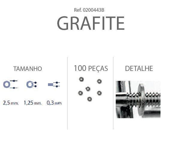 0200443B - Anilha 02 Metal 2,5x1,25x0,30mm GunMetal Mod 443B FLAG E  -Contém 100 Peças