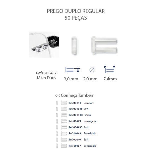 0200457 - Prego Duplo Plástico D=2,0mmx7,4mm Mod 457 FLAG E - Contém 50 Peças SOB ENCOMENDA