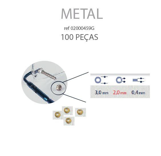 0200459G - Anilha Metal 3,0x2,00x0,40mm Ouro Mod 459G FLAG 9 - Contém 100 Peças