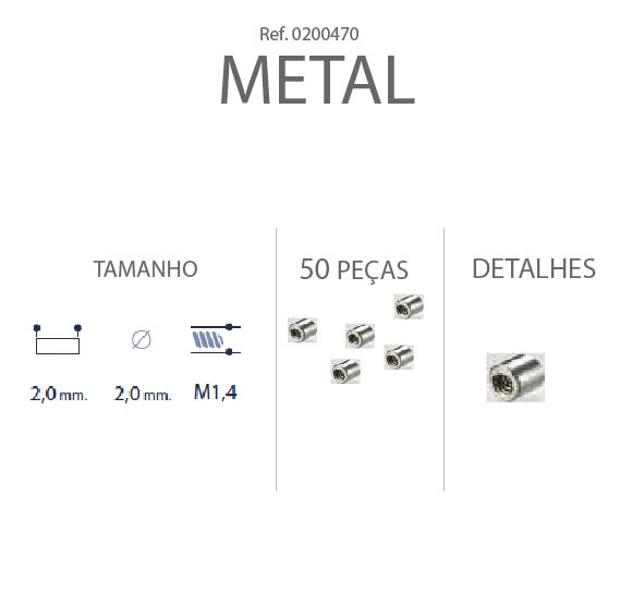 0200470 - Charneira 02 Bloco de Fecho Kit Liso/Rosca Mod 470 FLAG E  -Contém 50 Peças
