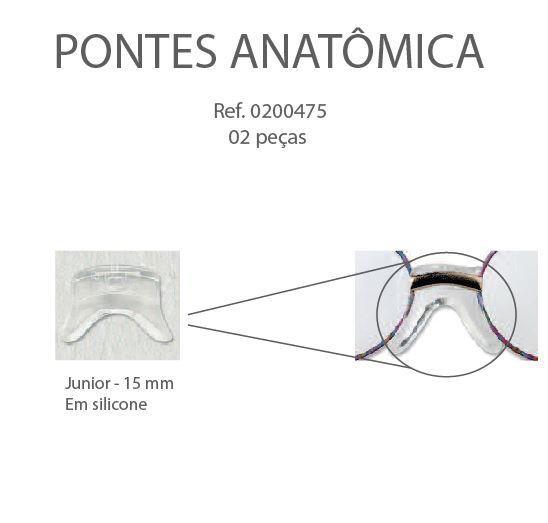 0200475 - Plaqueta Silicone/Encaixe Ponte Anatomica 15mm Mod 475 FLAG E - Contém 2 Peças SOB ENCOMENDA