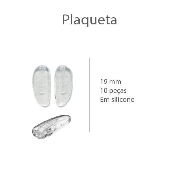 0200491 - Plaqueta Silicone/Encaixe Baioneta D-Shape 19mm Mod 491 - Contém 10 Peças