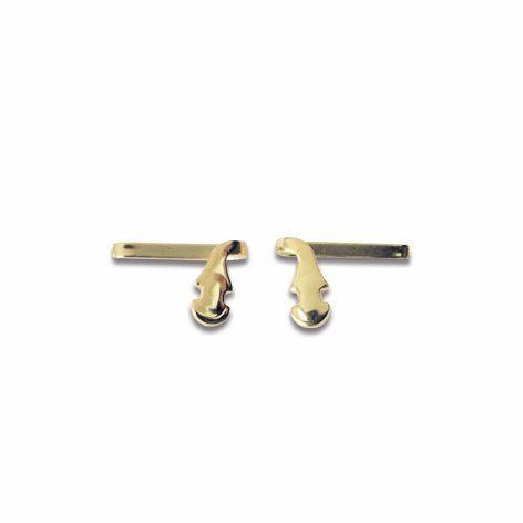 0200522 - Suporte-Plaqueta 02 R.B. Ouro Mod 522  -Contém 10 Peças